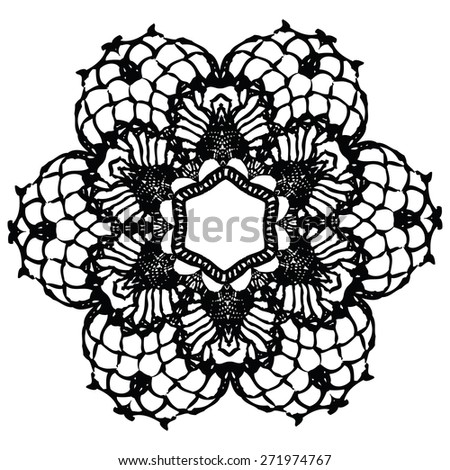 Crochet Stitches Vector : Crocheted Stock Vectors & Vector Art