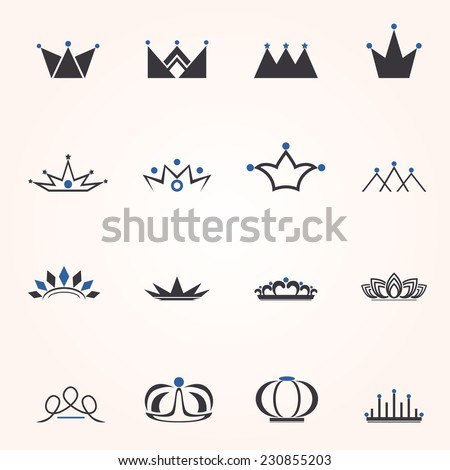 Black Crown - stock vector