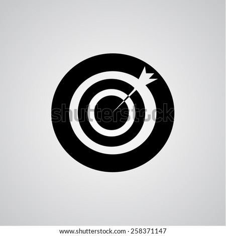 black dart icon - stock vector