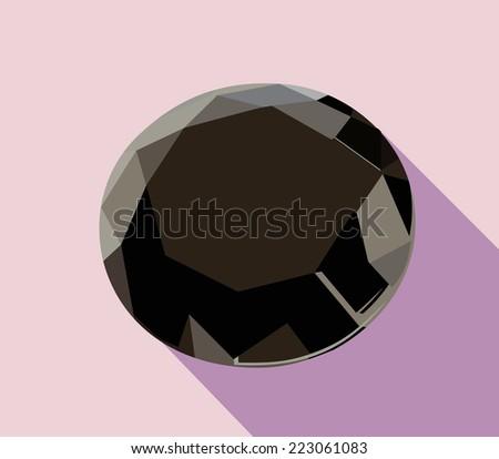 black diamond  - stock vector