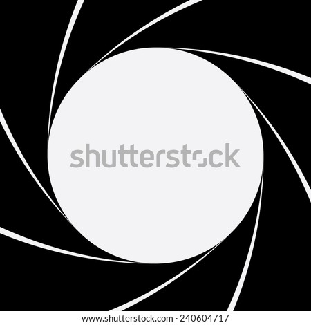Black diaphragm  background - stock vector