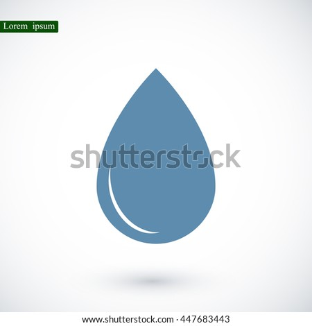 black drop icon - stock vector
