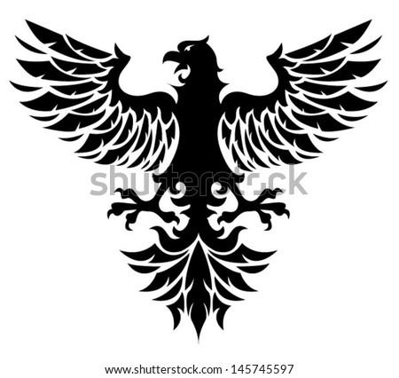 Black eagle - stock vector