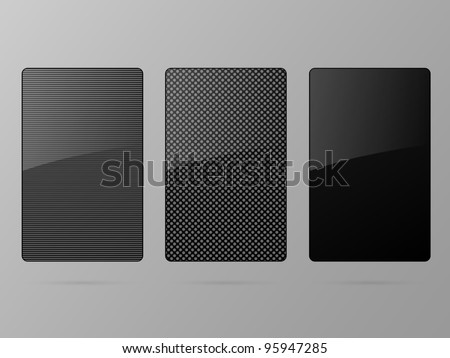 Black framework set. Vector illustration. - stock vector