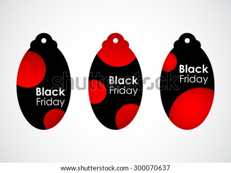 black friday price tags with dotted design - stock vector