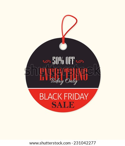 Black Friday Round Style Price Concept Tag, Banner, Label - stock vector