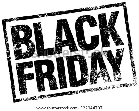 black friday rubber stamp - stock vector