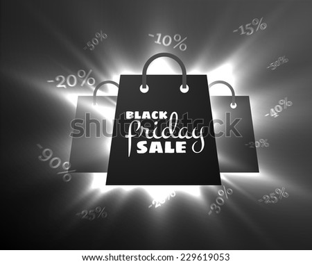 Black friday sale background. Vector eps10. - stock vector