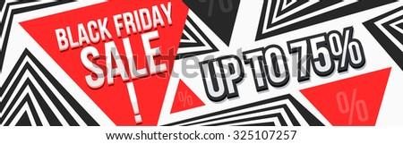 Black friday sale banner, poster. Vector illustration.  - stock vector