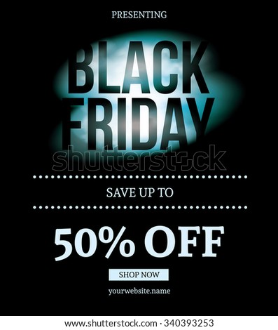 Black Friday Sale Coupon - stock vector