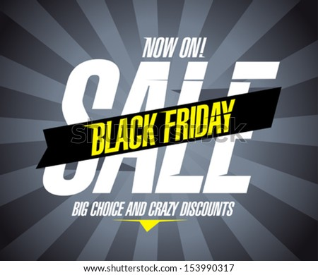 Black friday sale design template. - stock vector