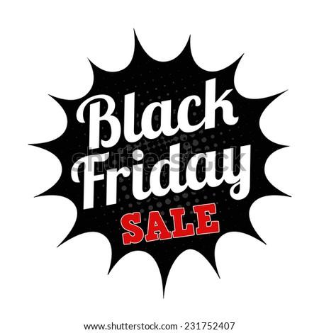 Black friday sale grunge rubber stamp on white, vector illustration - stock vector