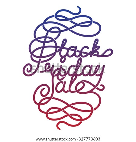 Black Friday Sale lettering. letters with decoration elements - stock vector