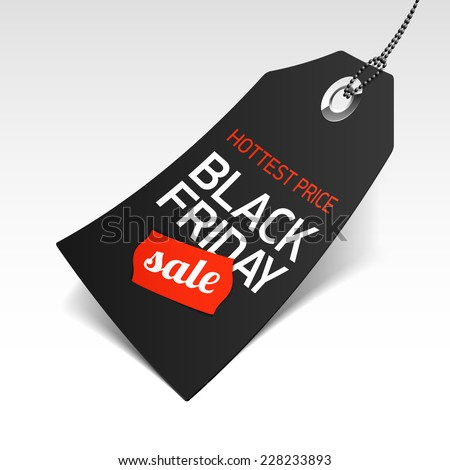Black Friday Sale price tag. Vector. - stock vector