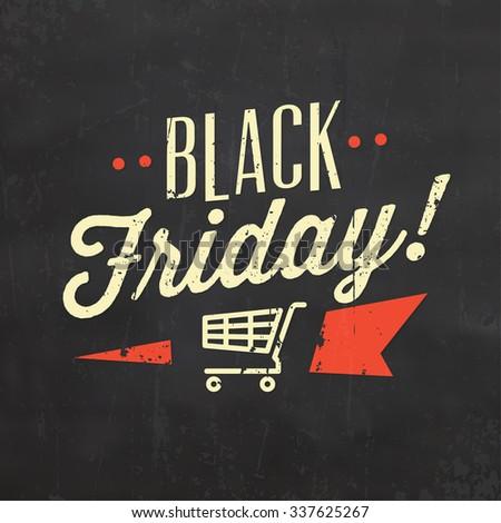 Black Friday Sale / Typographic Design - stock vector