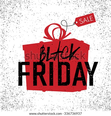 Black Friday sales Advertising Poster. On white background - stock vector