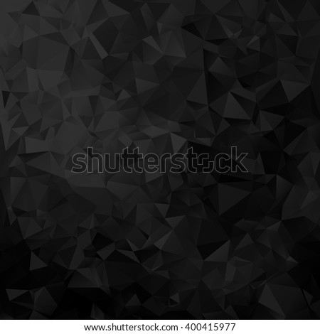 Black geometric triangular pattern, Vector trendy background EPS10. Design for your flyers, banners, brochures, covers, posters, cards etc. - stock vector