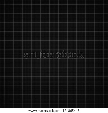 Black graph paper background vector illustration - stock vector