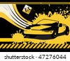 black grunge car background vector - stock vector