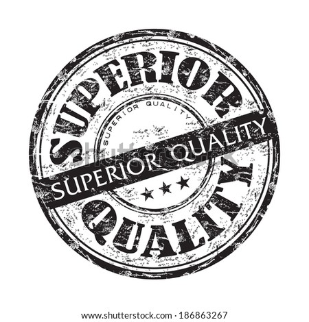 Black grunge rubber stamp with the text superior quality written with black letters - stock vector