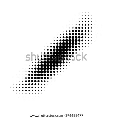 Black halftone strip pattern. Vector illustration - stock vector