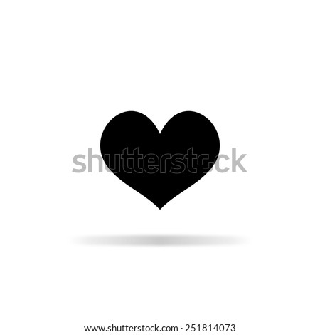 Black heart vector icon - stock vector