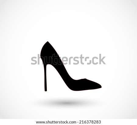 Black high heels icon vector - stock vector