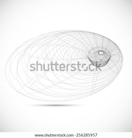 Black Hole Sketch Black Hole Magnetic Field