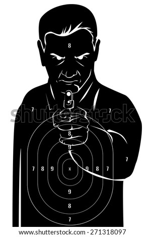 Black human target - stock vector
