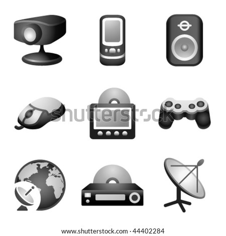 Black icons for website 21 - stock vector