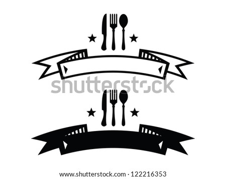 Knife And Fork Clipart Black And White Black Knife Fork And Spoon