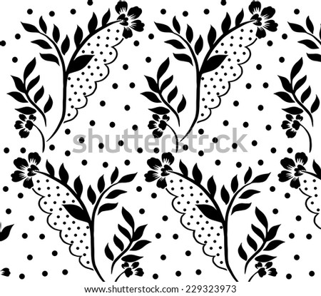 black lace seamless pattern. - stock vector