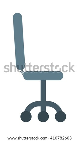Black leather office chair furniture, seat armchair, business comfortable equipment design vector. Office leather chair and business office chair. Leather office chair, comfort ergonomic boss chair. - stock vector