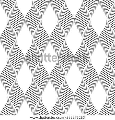 black linear geometric illustration on  white background - stock vector