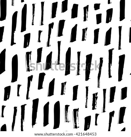 Black lines - hand drawn seamless pattern - stock vector