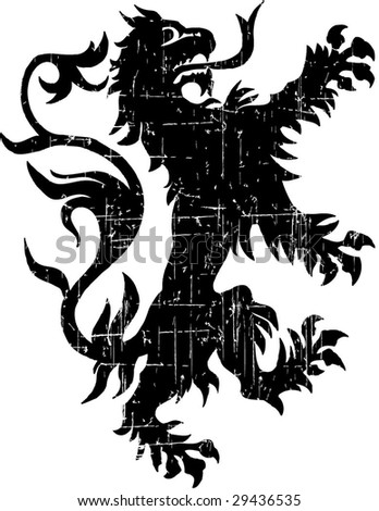 black lion - stock vector