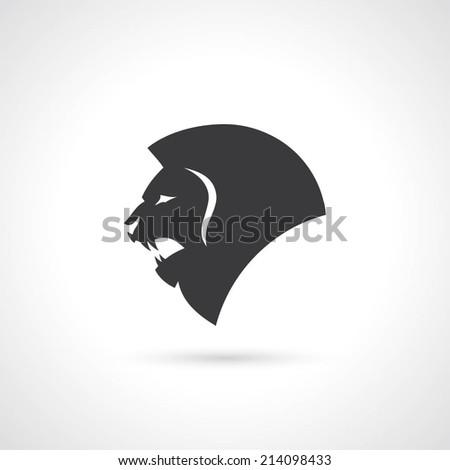 Black lion symbol - vector illustration - stock vector