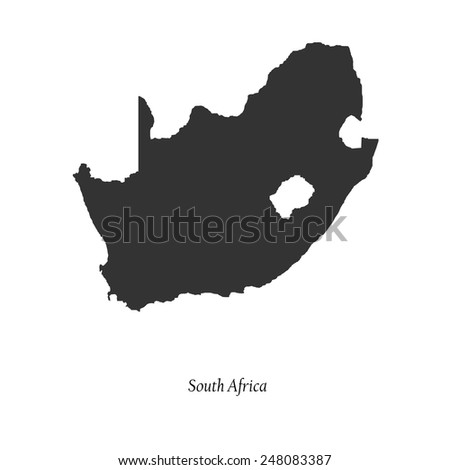 Black map of South Africa for your design, concept Illustration. - stock vector