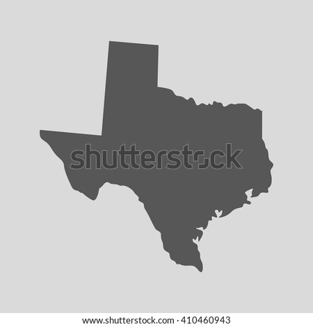 Black map of the State of Texas - vector illustration. Simple flat map State of Texas. - stock vector