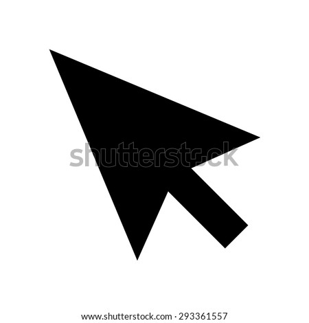 Black mouse pointer cursor arrow - stock vector