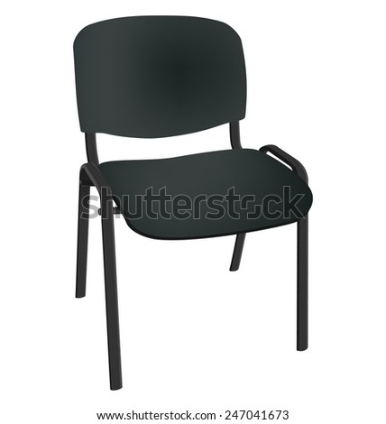 Black office single chair isolated on white background - stock vector
