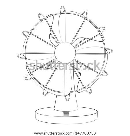 Chinese Fan Outline Black Outline Vector Fan on