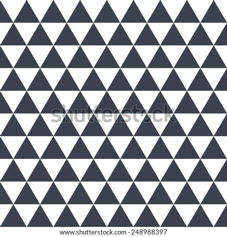 Black pattern triangle on white background . - stock vector