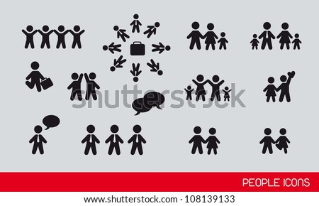 black people icons, famlies and businessman. vector illustration - stock vector