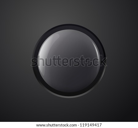 Black power button. Vector illustration. - stock vector