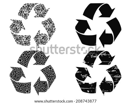 how to draw recycle symbol