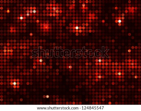 black red  vector background horizontal mosaic with light spots - stock vector