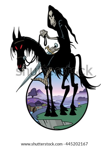 Black Rider - stock vector