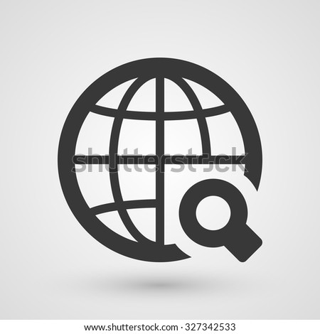 Black search icon. Symbol about web concept.  - stock vector