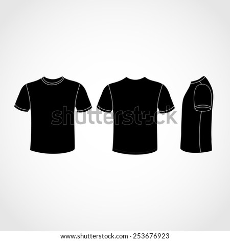 Black Shirt icon great for any use. Vector EPS10. - stock vector